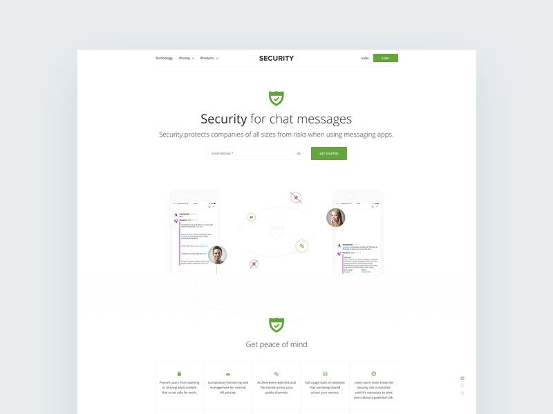Chat Security Template Freebie - Download Photoshop Resource - PSD Repo