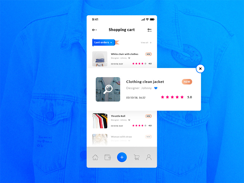 Shopping Cart Historical Orders Ios App Template Free Psd