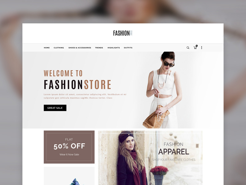 Simple ecommerce template freebie download photoshop resource simple ecommerce template maxwellsz