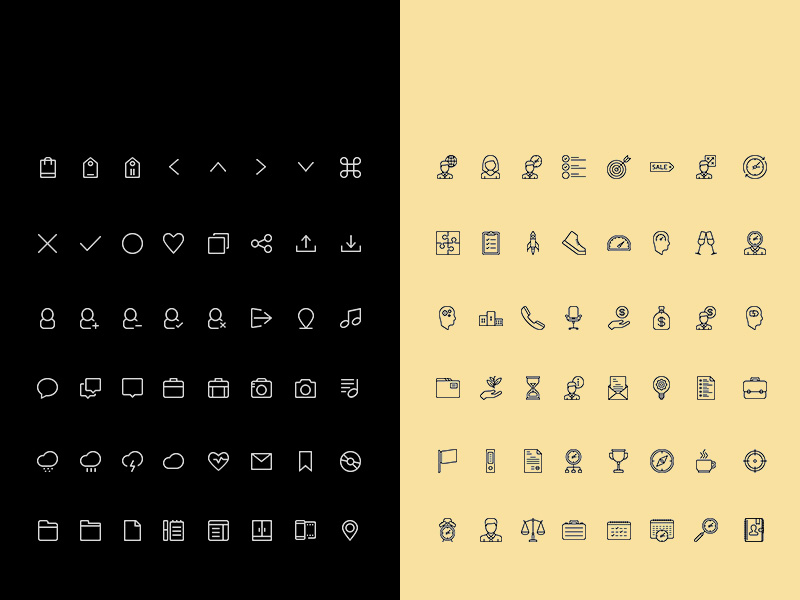 Simple Line Icon Set