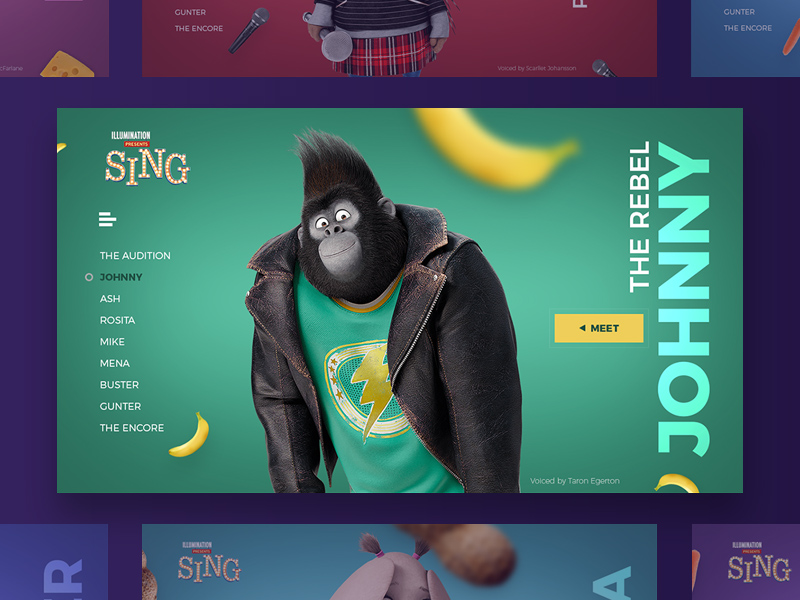 Free Sing Movie – Characters Website Templates download