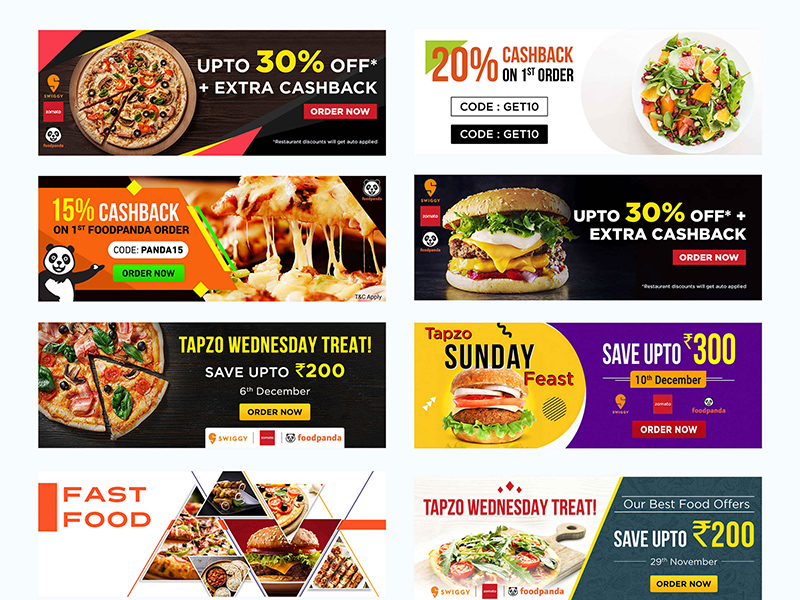 facebook banner templates social media food banners free psd