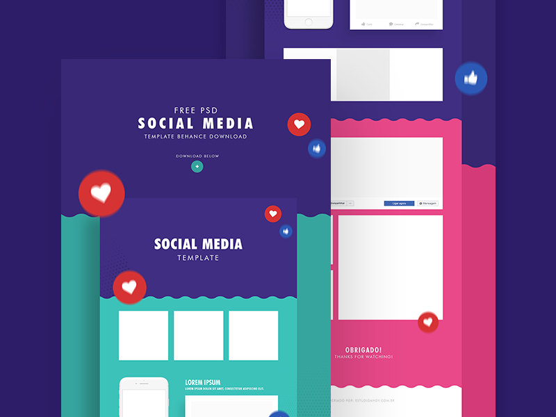 social media templates facebook instagram mockups