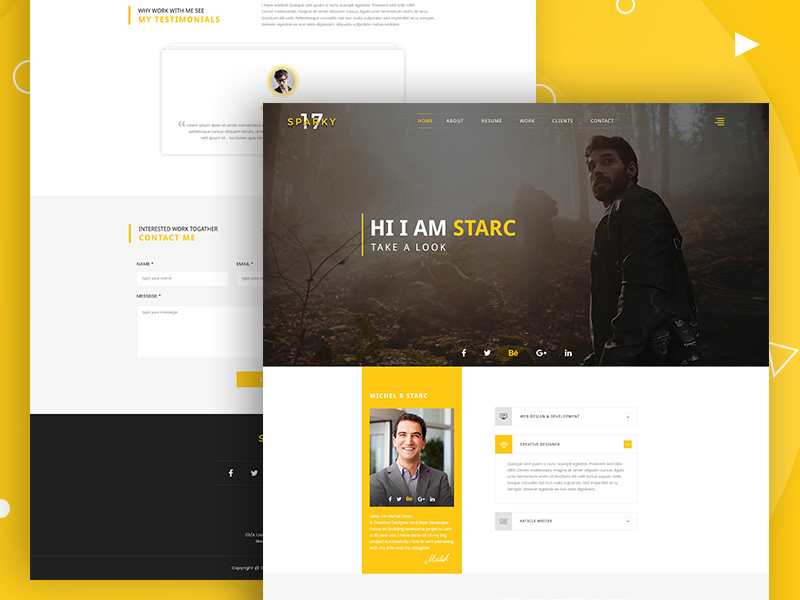 Sparky17 multipurpose business agency personal portfolio template sparky17 multipurpose business agency personal portfolio template flashek