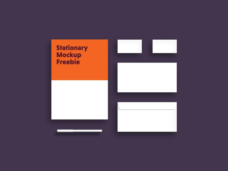 Free Small Stationary Mockup download