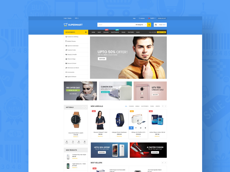 Free Supermart – Stylist Ecommerce Template download