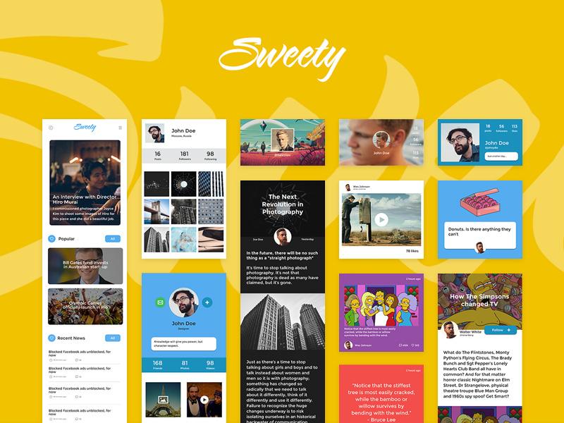 Sweety iOS UI Kit Samples