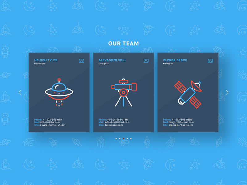 Free Team Page Section download