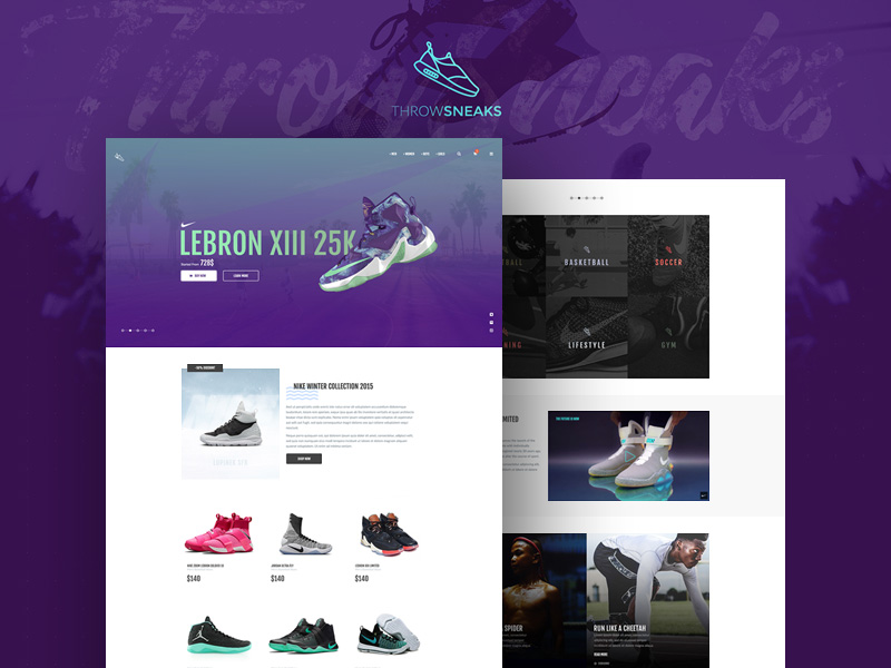ThrowSneaks Shopping Template