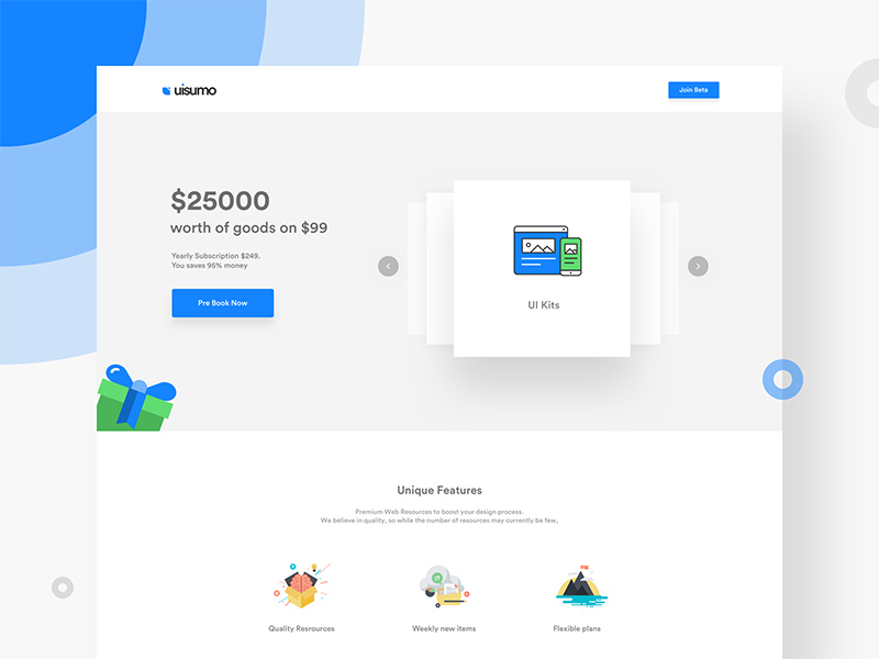 Free UISuMo Landing page – WIP download