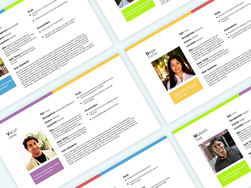 user personas scenario templates freebie download photoshop