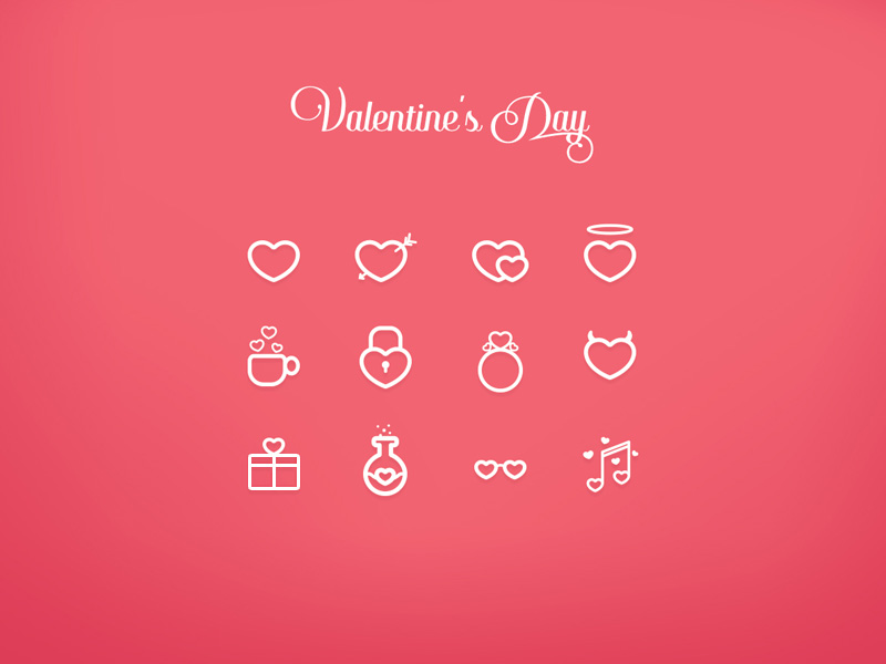 Valentine S Day Icon Set Free Psd Template Psd Repo