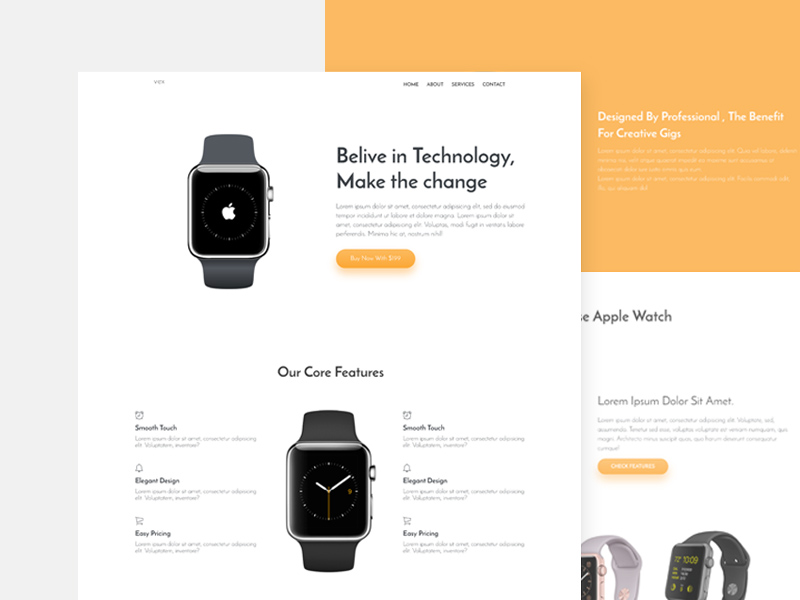 Free Vex Product Landing Page Template download