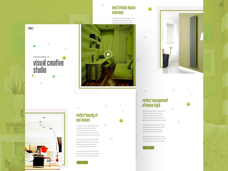 Creative Visual Studio Website Template Freebie Download Photoshop - Photo studio website template