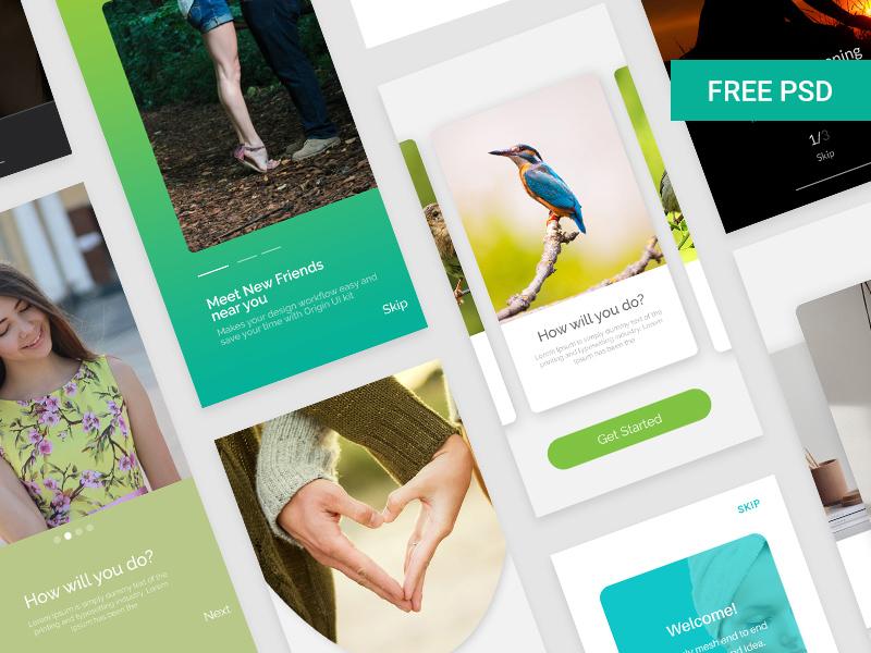 Free Walkthrough UI Design Kit download
