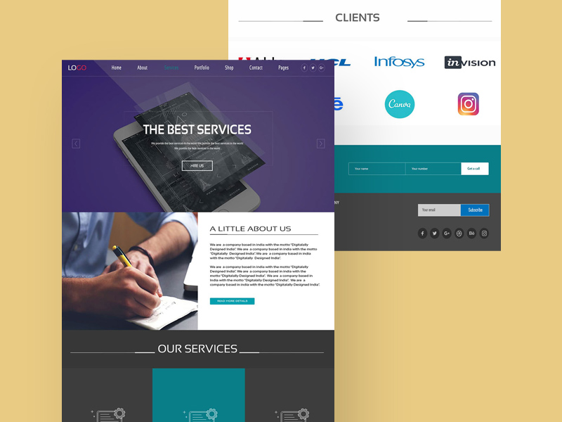Web Services Website Design Ui Template Free Psd Template Psd Repo