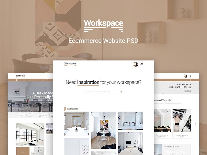 Free Workspace – Ecommerce Website download