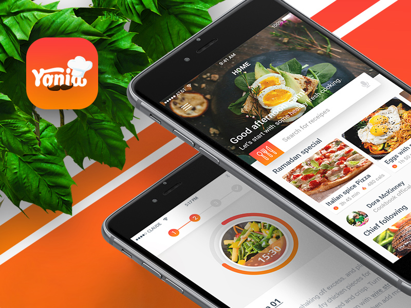 Yonia food recipes ios mobile app design freebie download yonia food recipes ios mobile app design forumfinder